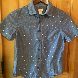 EUC Boys' Woven Short Sleeve Button-Down Shirt